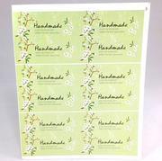 Sticker Handmade hoa màu xanh