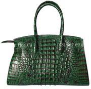 Túi xách da nữ cá sấu Hoa Cà da nguyên con - 01581