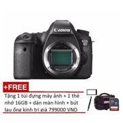 Canon EOS 6D 20MP Body (Đen) + Tặng 1 túi đựng máy ảnh + 1 thẻ nhớ 16GB + dán màn hình + bút lau ống...
