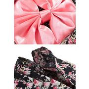 Cute Japanese Kimono Style Apparel Costume Pet Clothes for Dog Puppy Cat Skirt Dress Clothing Black ...