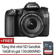 Canon EOS 70D 20.2MP với Lens kit Canon EF-S18-135 IS STM (Đen) - Hàng nhập khẩu + Tặng bộ vệ sinh m...