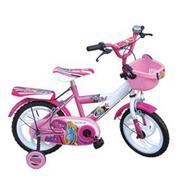 Xe đạp trẻ em 2 bánh K.5 hai màu hồng trắng,cho trẻ từ 4~6 tuổi