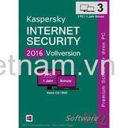 Phần mềm diệt virut Kaspersky Internet security(3PC/12T)