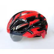 Nón bảo hiểm kèm kính chống nắng DEPRO DH-6051 (đỏ đen)
