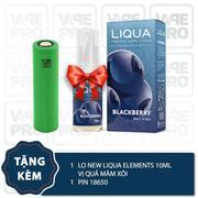 Bộ sản phẩm Eleaf Pico Squeeze (White) tặng 1 lọ tinh dầu New Liqua 10ml vị Quả mâm xôi + 1 pin 1865...