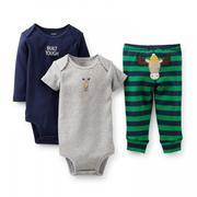 Bộ 3 món áo liền quần + quần thêu tuần lộc - Carter's