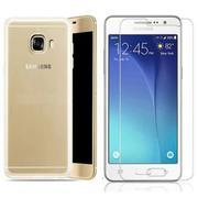 Bộ ốp lưng Silicon cho Samsung Galaxy A9 Pro (Trắng) + Kính cường lực 2.5D (Trắng)
