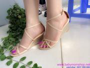 Giày đế xuồng dây chéo phong cách nữ tính GN22
