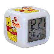 Đồng hồ báo thức 7 màu Gấu Pooh