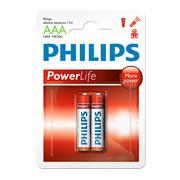 Vỉ 2 viên pin AAA Alkaline Philips LR03P2B/97 1,5V (Đỏ)