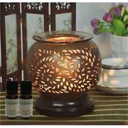 Bộ 2 chai tinh dầu sả chanh đuổi muỗi (10ml) và đèn xông tinh dầu điện AH7+ Tặng 1 chai tinh dầu thô...