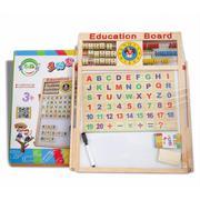 Bảng từ 2 mặt kèm bộ chữ gỗ gắn nam châm cho bé