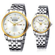 Đồng hồ đôi Eyki EET8593 - Đồng hồ đôi gắn đá