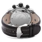 Stuhrling Original Men's Heracles Chronograph Grey Dial Black Leather