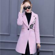 Áo khoác dạ dáng dài thời trang Hàn Quốc 2016 - B102305