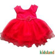 Đầm voan đỏ bé gái - AD70