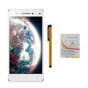 Bộ 1 Lenovo Vibe S1 16GB 2 Sim (Trắng) + Bút cảm ứng Stylus Touch 1 đầu Pen-x + Sim Viettel + Gậy ch...