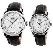 Đồng hồ SKMEI cặp dây da cổ điển SK005
