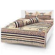 Bộ ga giường cotton chăn ga chanel sọc Tmark