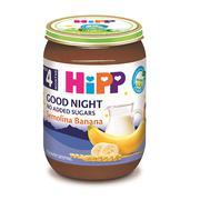 Dinh dưỡng đóng lọ Hipp cháo sữa, chuối Semolina 190gr 4M+