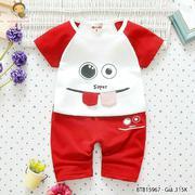 Bộ thun mặt cười tay raplang dễ thương cho bé trai 1 - 8 Tuổi BTB15967