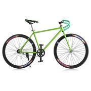 Xe đạp Fixed Gear Single Cổ sừng dê thời trang SportSlink (Xanh lá phối đen) - XDCS_FGS_XANHLA_DEN