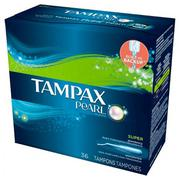 BĂNG VỆ SINH TAMPAX PEARL PLASTIC - SUPER UNSCENTED (36 TAMPONS)