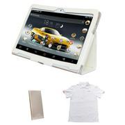 Bộ Máy tính bảng CutePad Tab 4 M9601 16GB 3G (Trắng) + Bao da (Trắng) + Pin sạc dự phòng CutePad TPO...