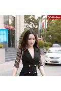 Đầm Công Sở Tay Ren Xinh Xắn D49(Int:Xxl)