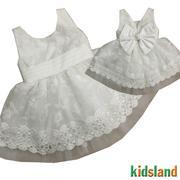 Đầm voan trắng KIDSLAND - AD149