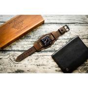 Dây đồng hồ da thật Handmade cho Apple Watch ( 38mm và 42mm ) – Mẫu BF02D5 CUFF
