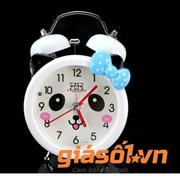 Đồng hồ báo thức để bàn cho bé 17064 (Nơ xanh dương)