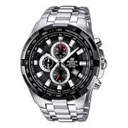Đồng hồ dây thép không gỉ EDIFICE nam thời trang Casio (Bạc mặt đen) - EF-131D-1A1VUDF