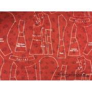 Vải thô họa tiết rập vải nền đỏ