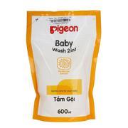 Sữa Tắm Gội Pigeon Hoa Hướng Dương (2 in 1) 600ml túi thay thế MP22013