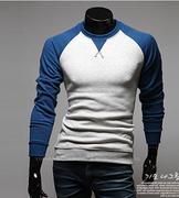 áo thun nam tay dài phối màu