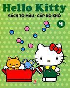 Hello Kitty - Sách Tô Màu Cấp Độ Khó (Tập 4)