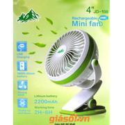 Quạt tích điện Mini fan JD-198 USB Rechargeable 2200mAh ( Xanh Lá)