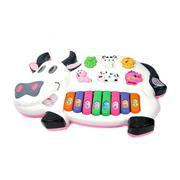 Đồ chơi đàn piano hình chú bò sữa (Trắng)