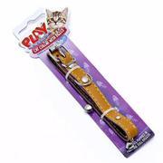 Dây Đeo Cổ Mèo Bằng Da 36cm Uncle Bill màu nâu nhạt PG0004