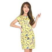 Đầm suông họa tiết - vàng