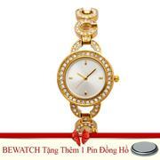 Đồng hồ nữ dây kim loại + Tặng Kèm 01 Viên Pin