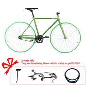 Xe đạp Topbike Alpha khung màu xanh bộ đội