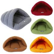 Pet Dog Cat Kitten Cave Crate Keep Warm Winter Bed House Sleeping Bag Plush Mat - intl