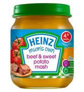 Dinh dưỡng đóng lọ thịt bò khoai lang nghiền 120g Heinz