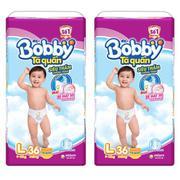 Bộ 2 gói tã quần Bobby L36