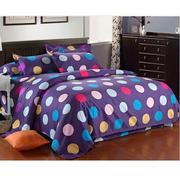 Bộ ga giường cotton Bông bi tím Tmark