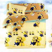 Bộ ga giường cotton minion màu vàng Tmark