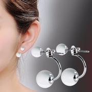 Bông tai nữ ngọc trai mẫu đẹp giá rẻ 6mm và 10mm (trắng)