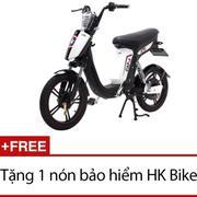 Xe đạp điện HK Bike CAP-A (Trắng phối đen) + Tặng 1 nón bảo hiểm HK Bike